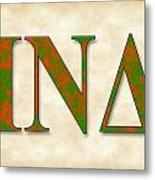Iota Nu Delta - Parchment Metal Print