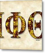 Iota Phi Theta - Parchment Metal Print