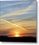 Iowa Sunrise Metal Print