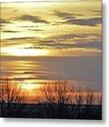 Iowa Sunrise Panorama Metal Print