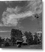 Iowa Windmill Metal Print