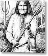 iPhone-Case-Geronimo Metal Print