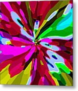 Iphone Cases Colorful Flowers Abstract Roses Gardenias Tiger Lily Florals Carole Spandau Cbs Art 179 Metal Print by Carole Spandau