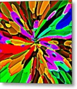 Iphone Cases Colorful Flowers Abstract Roses Gardenias Tiger Lily Florals Carole Spandau Cbs Art 180 Metal Print