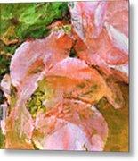 Iphone Pink Rose Digital Paint Metal Print
