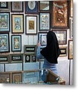 Iran Isfahan Art Shop Metal Print