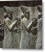 Iran. Persepolis. Apadana Or Audience Metal Print