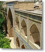 Iran Shiraz Mosque And School Metal Print