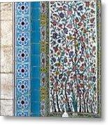 Iran Shiraz Tile And Fountain Metal Print