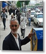 Iran Street Of Mashad Metal Print