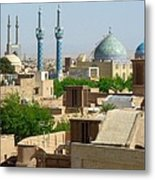 Iran Yazd From The Rooftops  Metal Print