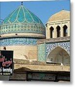 Iran Yazd Old And New Metal Print