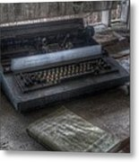 Iraq Typewriter  Metal Print
