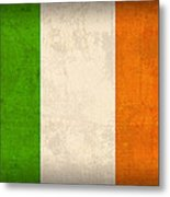 Ireland Flag Vintage Distressed Finish Metal Print by Design Turnpike