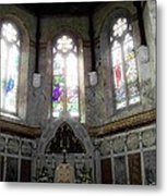 Ireland St. Brendan's Cathedral Stained Glass Metal Print