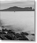 Ireland's Eye In Black And White Metal Print
