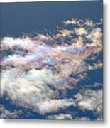 Iridescent Clouds Metal Print