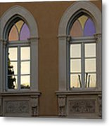 Iridescent Pastels At Sunset - Syracuse Arched Windows Metal Print