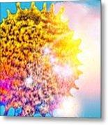 Iridescent Sun Metal Print