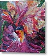 Iris - Bold Impressionist Painting Metal Print