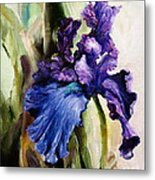 Iris In Bloom 2 Metal Print