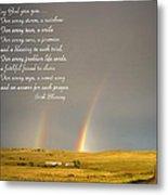 Irish Blessing Double Rainbow 07 11 14 Metal Print