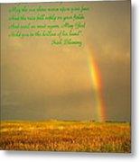Irish Blessing Rain On The Prairie Metal Print