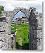 Irish Church Ruins Metal Print