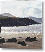 Irish Coast Pastel Chalk Metal Print