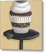 Irish Coffee Cupcake Metal Print