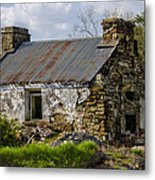 Irish Cottage Ruins Metal Print