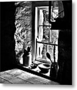 Irish Cottage Window Metal Print