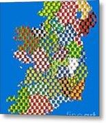 Irish County Gaa Flags Metal Print