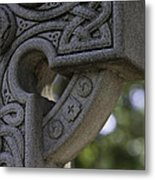 Irish Cross Metal Print