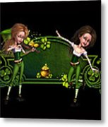 Irish dancers ii Metal Print