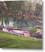 Irish Fishing Boats Metal Print