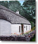 Irish Thatched Cottage Metal Print