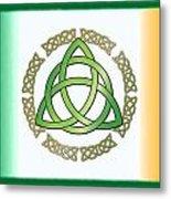 Irish Triquetra Metal Print