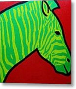 Irish Zebra Metal Print