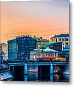 Iron Bridge Panorama Metal Print