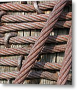 Iron Cables Metal Print