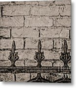 Iron Fence - New Orleans Metal Print