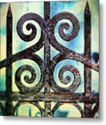 Iron Gate Detail Metal Print