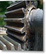 Iron Gears Metal Print by Ken Serfass