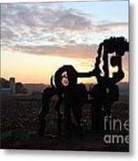 Iron Horse Keeping Watch Metal Print