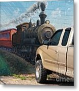 Iron Horsepower Metal Print
