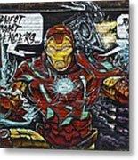 Iron Man Graffiti Metal Print