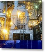 Iron Ore Processing Metal Print by Science Photo Library