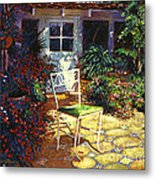 Iron Patio Chair Metal Print by David Lloyd Glover