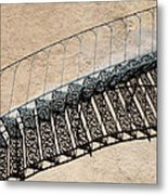 Iron Stairs Shadow Metal Print